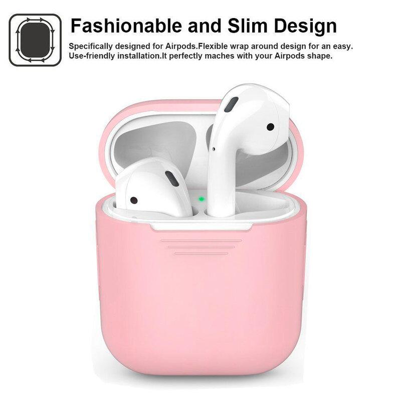 Husa Apple Airpods Tech-Protect Set Cu Suport Pentru Umeri Din Silicon - Alb