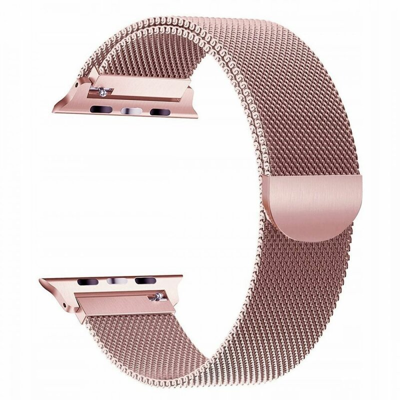 Curea Apple Watch 5 44mm Tech-Protect Milaneseband - Blush Gold