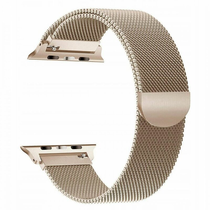 Curea Apple Watch 1 38mm Tech-Protect Milaneseband - Champagne Gold