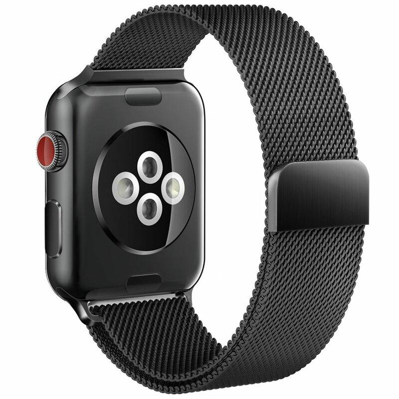 Curea Apple Watch 1 38mm Tech-Protect Milaneseband - Negru