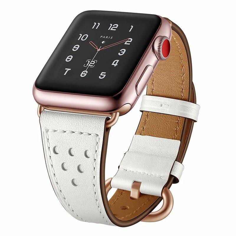 Curea Apple Watch 1 38mm Tech-Protect Milano - Alb