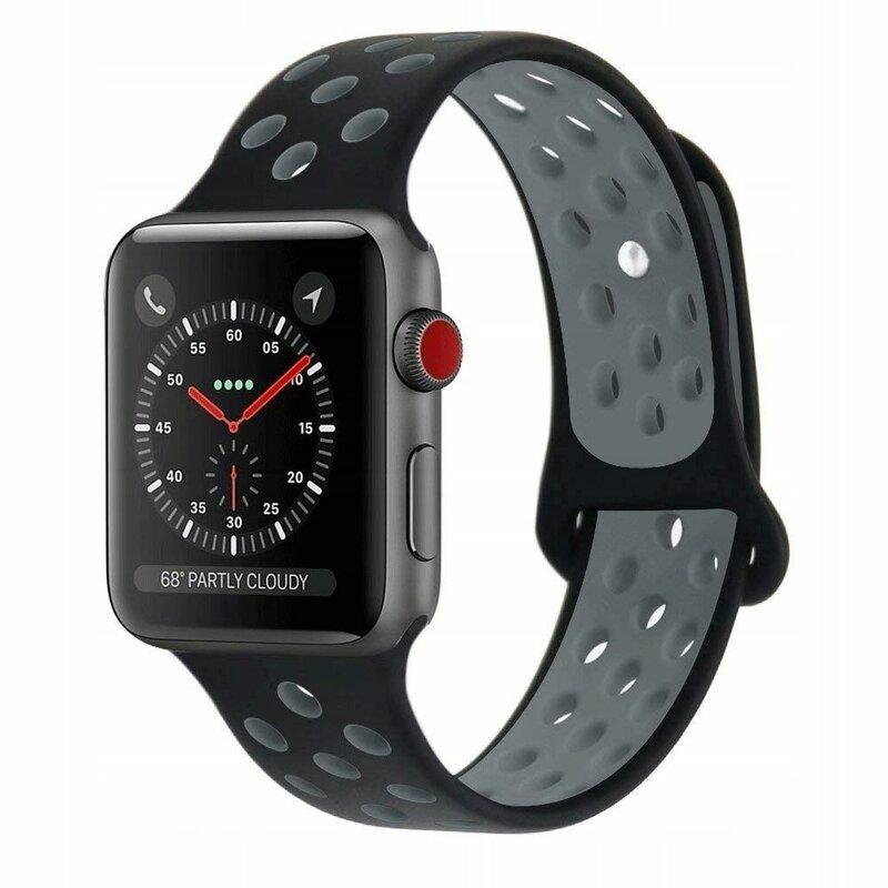 Curea Apple Watch 5 44mm Tech-Protect Softband - Black/Gray