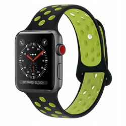 Curea Apple Watch 5 44mm Tech-Protect Softband - Black/Lime