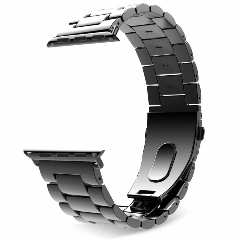 Curea Apple Watch 1 42mm Tech-Protect Stainless - Negru