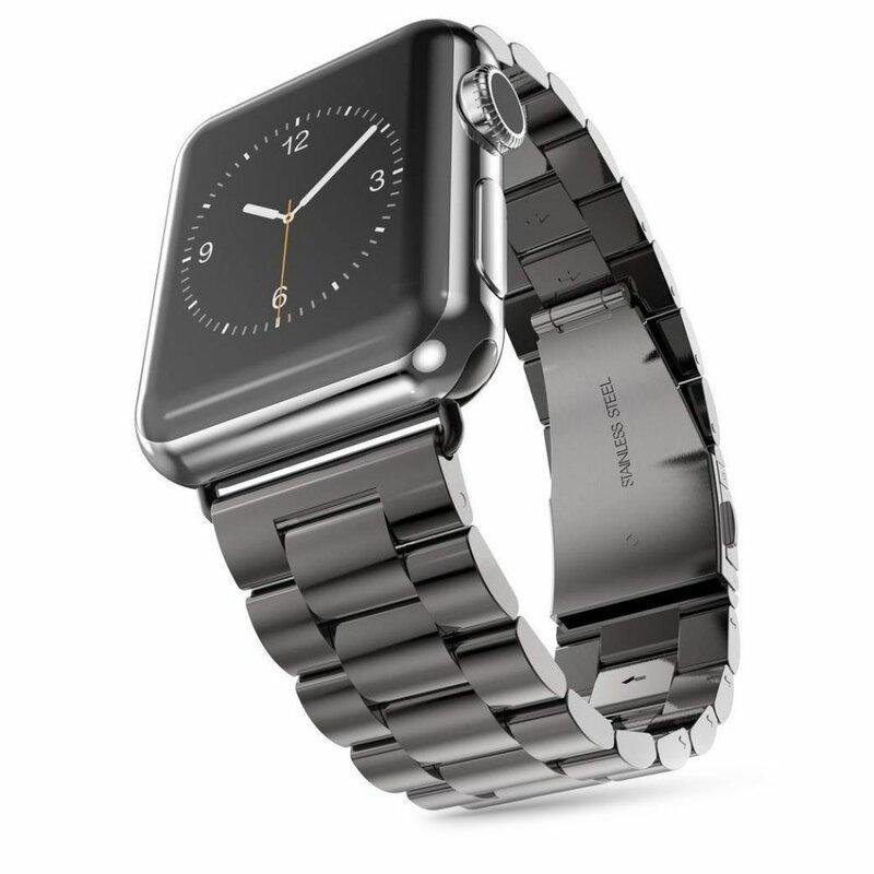 Curea Apple Watch 5 44mm Tech-Protect Stainless - Negru