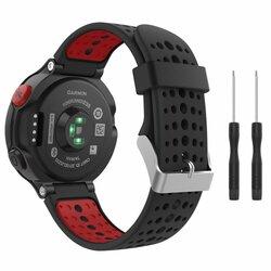 Curea Garmin Forerunner 630 Tech-Protect Smooth - Negru/Rosu