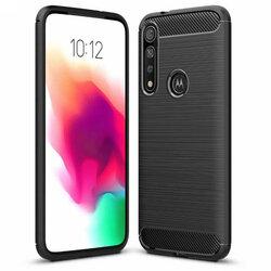 Husa Motorola Moto G8 Plus TPU Carbon - Negru