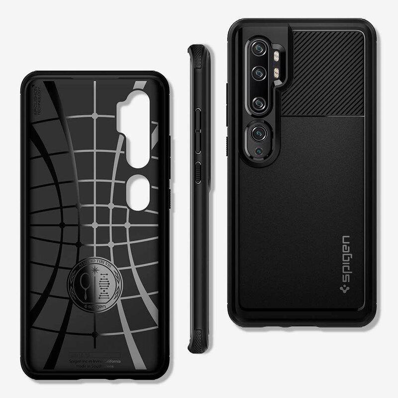 Husa Xiaomi Mi CC9 Pro Spigen Rugged Armor - Matte Black