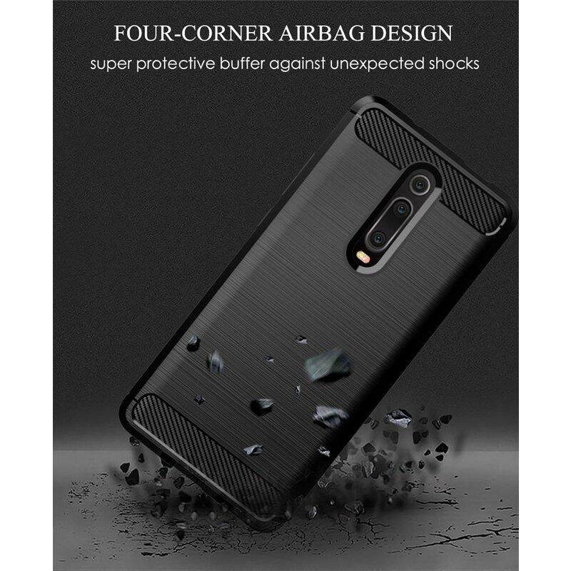 Husa Xiaomi Mi 9T Pro TPU Carbon - Negru