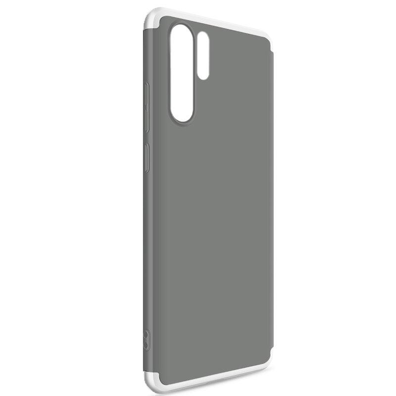 Husa Xiaomi Mi 9T Pro GKK 360 Full Cover Fumuriu/Argintiu