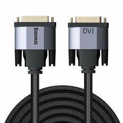Cablu Video Convertor Baseus Enjoyment Bidirectional DVI to DVI 2K HD 3M - CAKSX-S0G - Negru/Gri