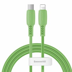 Cablu De Date Baseus Colourful Type-C To Lightning 18W 1,2m - CATLDC-06 - Verde
