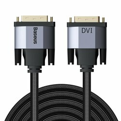 Cablu Video Convertor Baseus Enjoyment Bidirectional DVI to DVI 2K HD 1M - CAKSX-Q0G - Negru/Gri