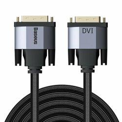 Cablu Video Convertor Baseus Enjoyment Bidirectional DVI to DVI 2K HD 2M - CAKSX-R0G - Negru/Gri