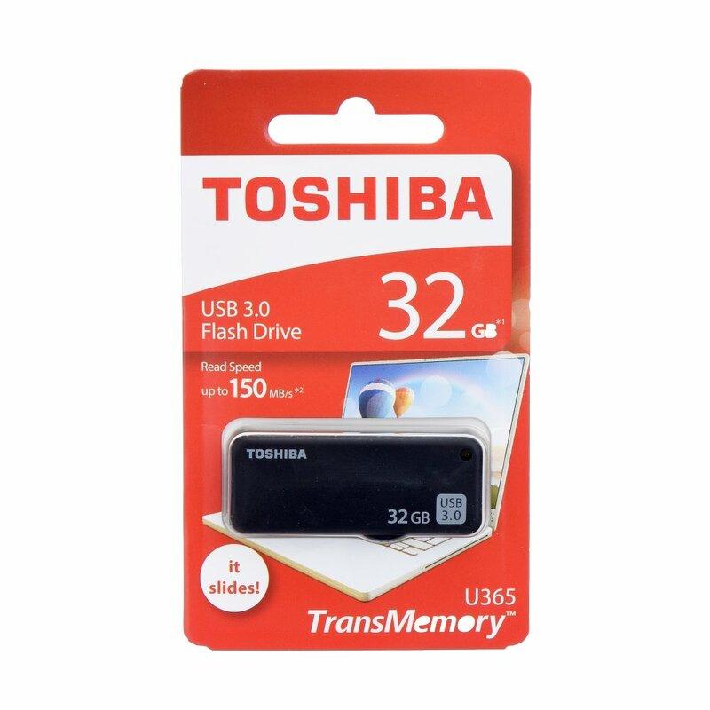 Stick USB Toshiba U365 TransMemory Flash Drive 32GB USB 3.0 150MB/s - Negru