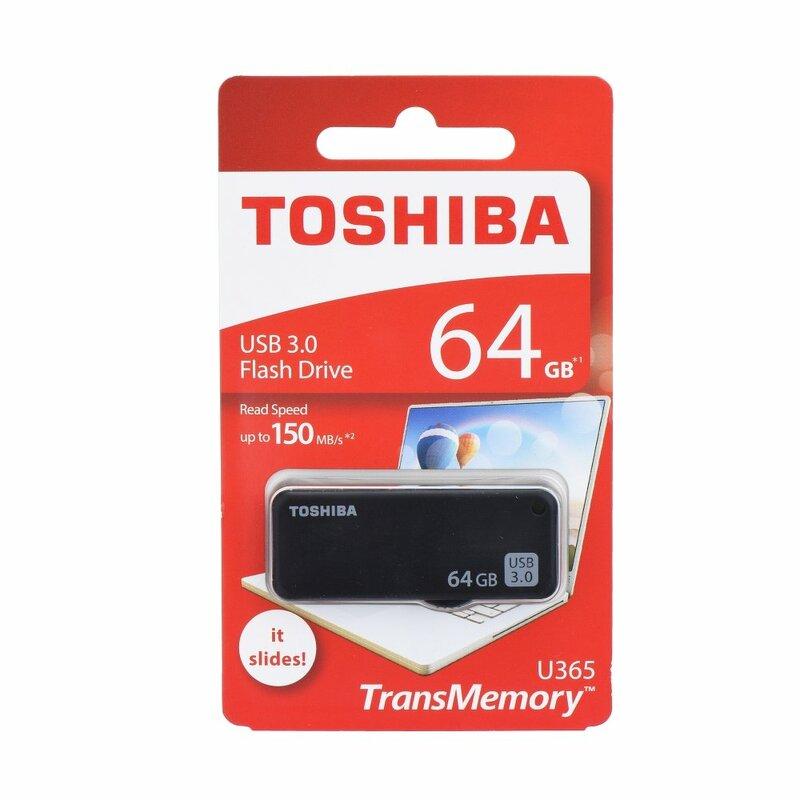 Stick USB Toshiba U365 TransMemory Flash Drive 64GB USB 3.0 150MB/s - Negru