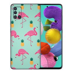 Skin Samsung Galaxy A51 - Sticker Mobster Autoadeziv Pentru Spate - Flamingo