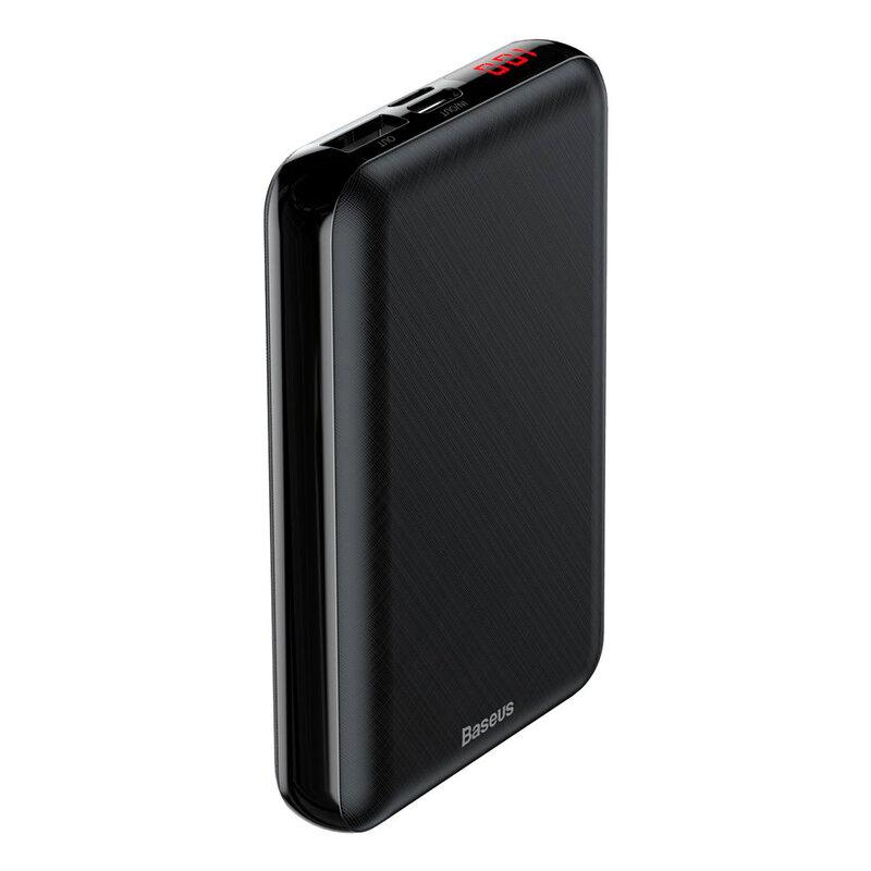 Baterie Externa Baseus Mini S PD Digital Display USB/Type-C/Lightning 10000mAh - PPALL-XF01 - Negru