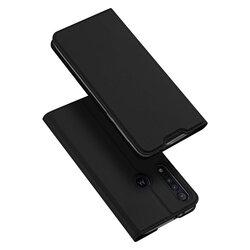 Husa Motorola One Macro Dux Ducis Flip Stand Book - Negru
