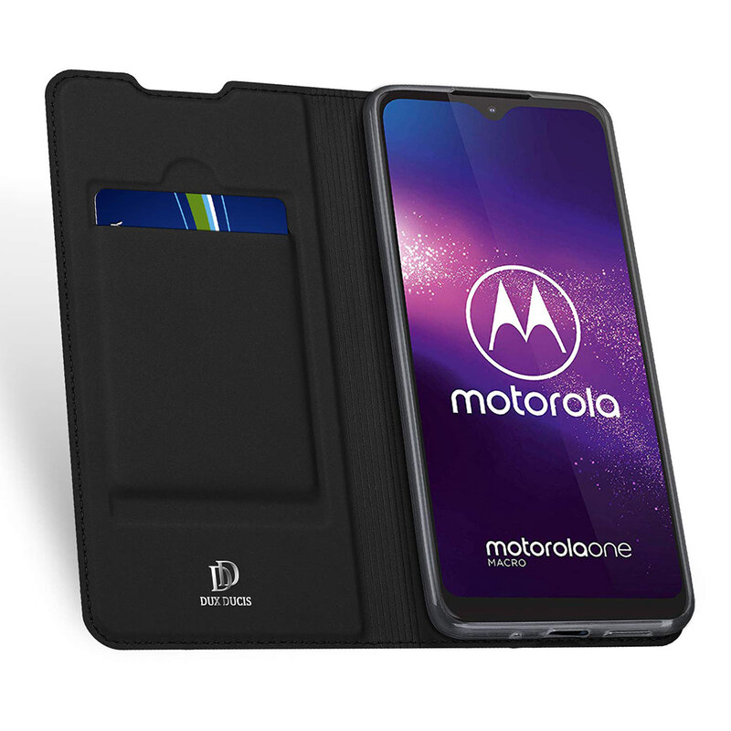 Husa Motorola Moto G8 Play Dux Ducis Flip Stand Book - Negru