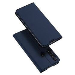 Husa Motorola One Macro Dux Ducis Flip Stand Book - Albastru