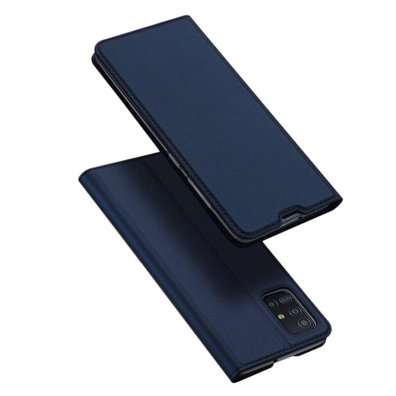 Husa Samsung Galaxy A51 Dux Ducis Flip Stand Book - Albastru