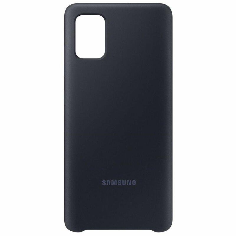 Husa Originala Samsung Galaxy A51 Silicone Cover - Negru
