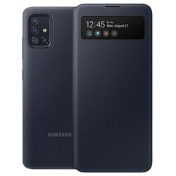 Husa Originala Samsung Galaxy A51 S View Wallet Cover - Negru