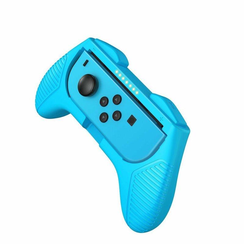 [Pachet 2x] Gamepad Nintendo Switch Baseus Set Handle For Joy-Con Joystick Pad - GMSWC-93 - Rosu/Albastru