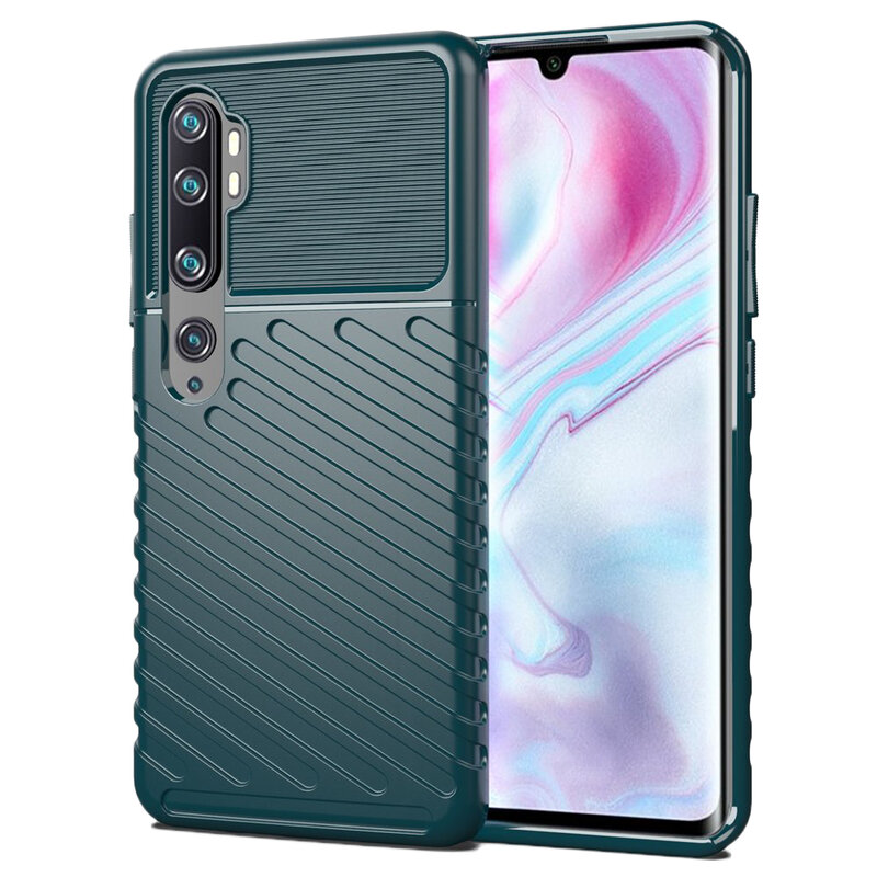 Husa Xiaomi Mi CC9 Pro Thunder Flexible Tough TPU - Verde