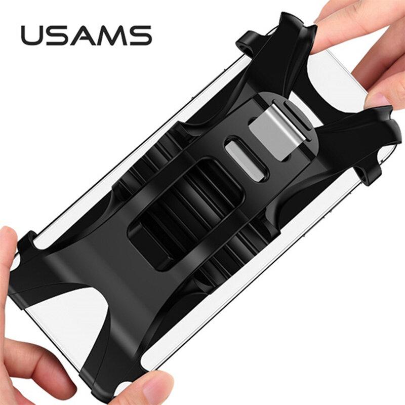 Suport Bicicleta USAMS Cu Prindere De Ghidon Pentru Telefoane -  US-ZJ053 - Negru