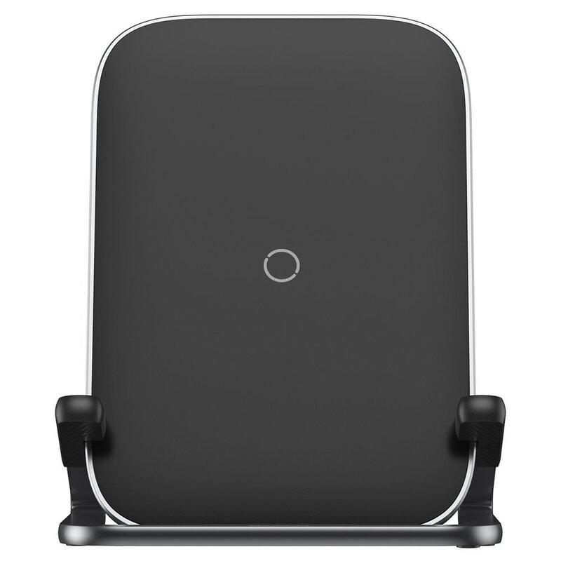 Incarcator Wireless Baseus Rib Cobble Induction Horizontal And Vertical Holder 15W - WXPG-01 - Negru