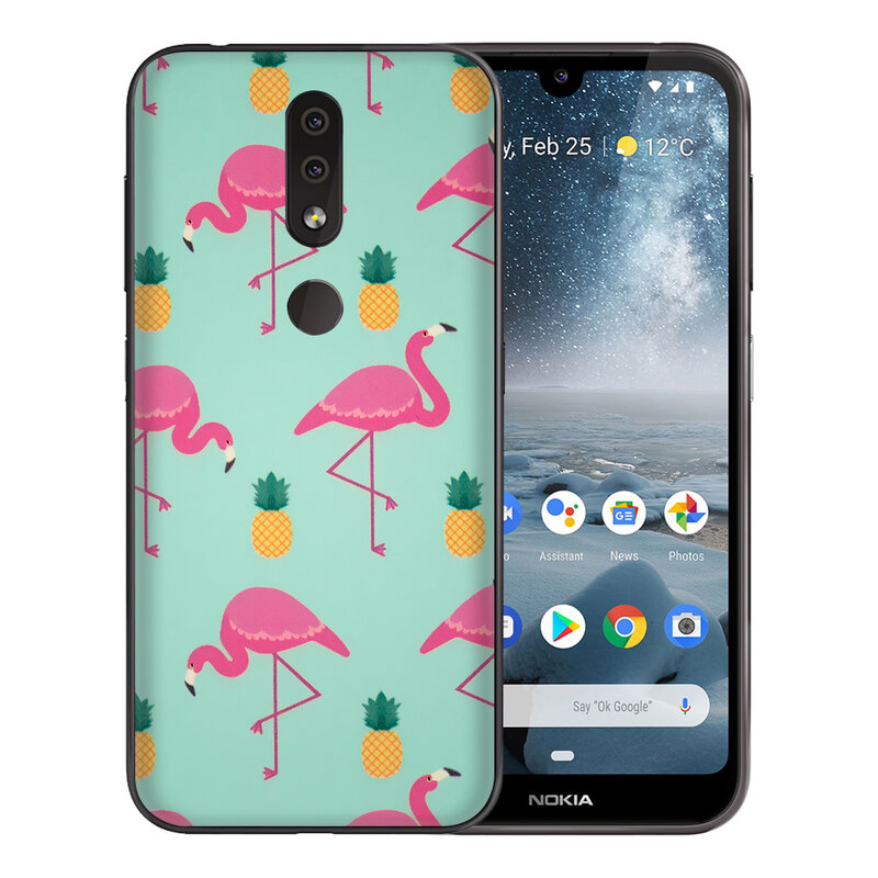Skin Nokia 4.2 - Sticker Mobster Autoadeziv Pentru Spate - Flamingo
