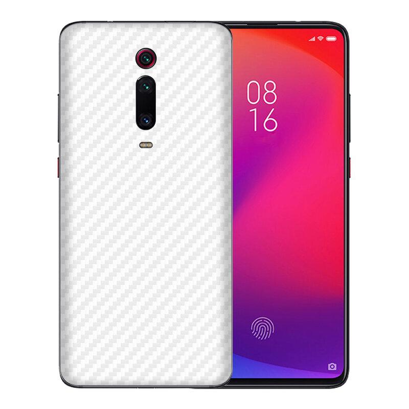 Skin Xiaomi Mi 9T - Sticker Mobster Autoadeziv Pentru Spate - Carbon White