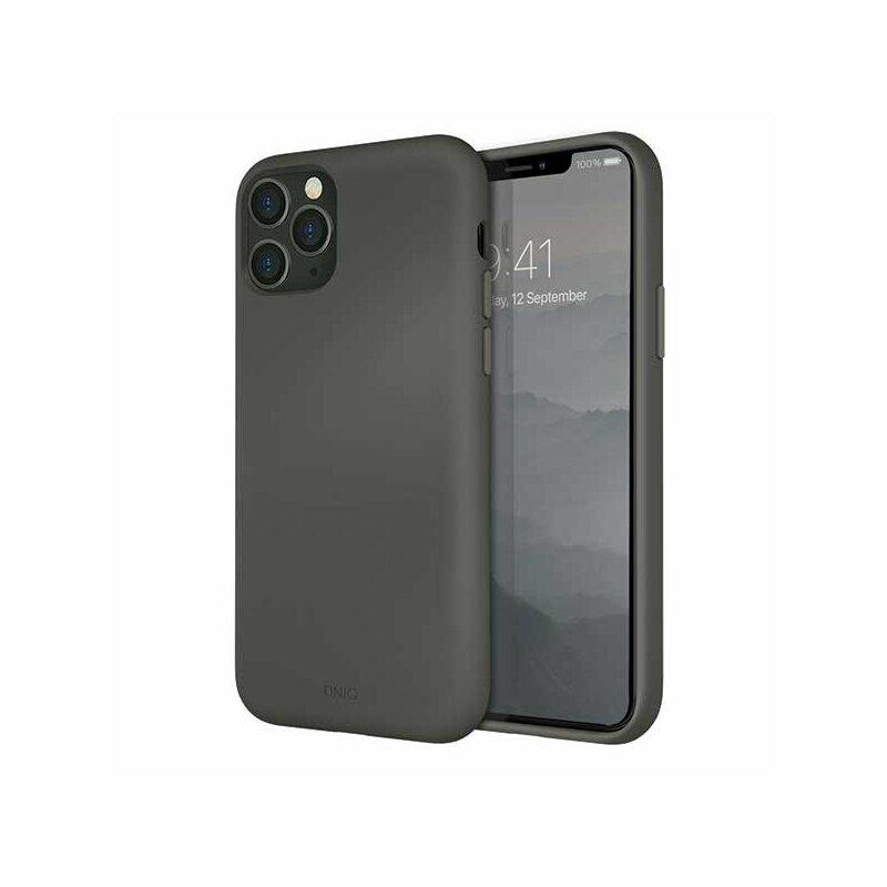 Husa iPhone 11 Pro Max Uniq Lino Hue - Moss Grey