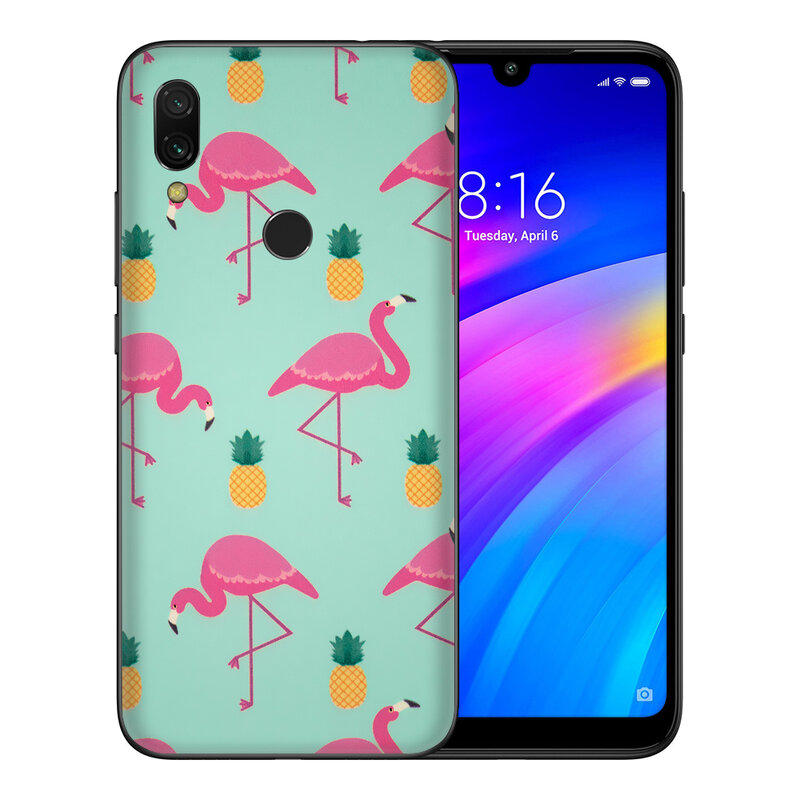 Skin Xiaomi Redmi Note 7 - Sticker Mobster Autoadeziv Pentru Spate - Flamingo