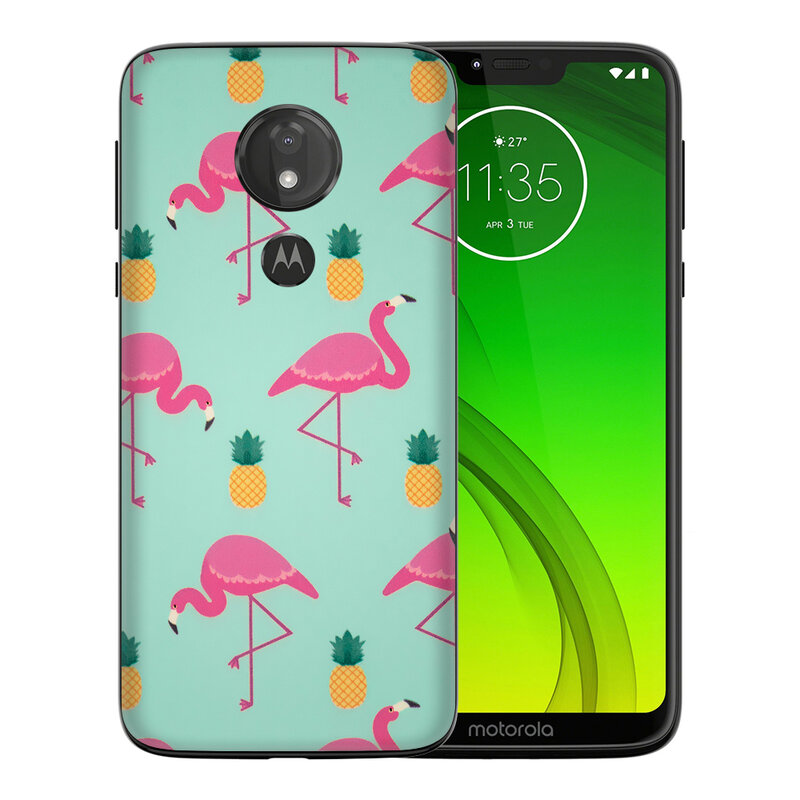 Skin Motorola Moto G7 Power - Sticker Mobster Autoadeziv Pentru Spate - Flamingo