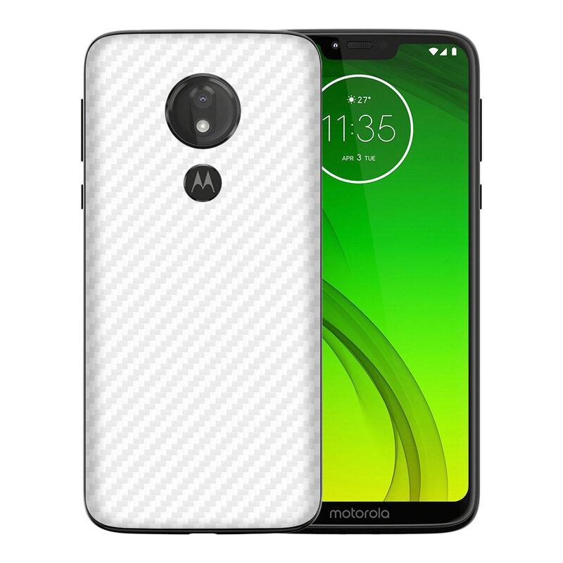 Skin Motorola Moto G7 Power - Sticker Mobster Autoadeziv Pentru Spate - Carbon White