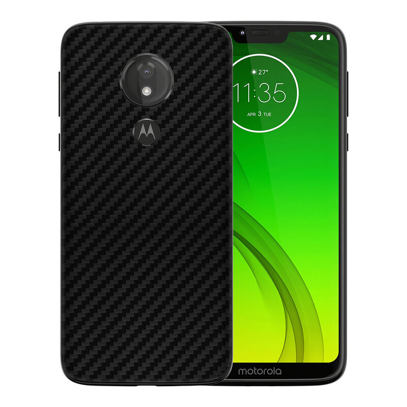 Skin Motorola Moto G7 Power - Sticker Mobster Autoadeziv Pentru Spate - Carbon Black