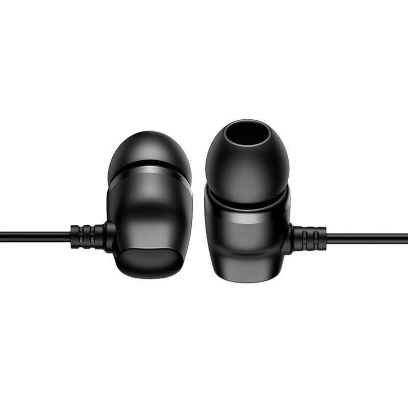 Casti In-Ear Cu Microfon USAMS EP-36 Metal Earphone 1.2m - US-SJ361 - Negru
