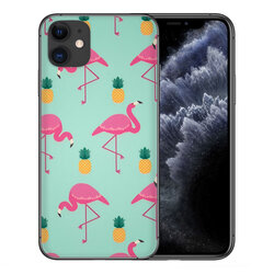 Skin iPhone 11 - Sticker Mobster Autoadeziv Pentru Spate - Flamingo