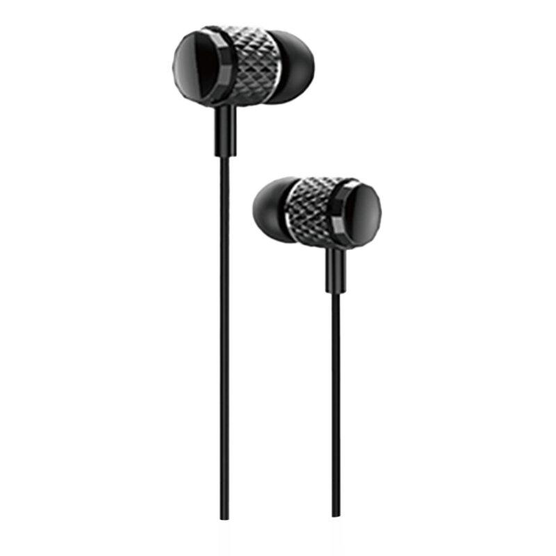 Casti In-Ear Cu Microfon USAMS EP-38 Electroplating Earphone Wire 3.5mm 1.2m - US-SJ383 - Negru