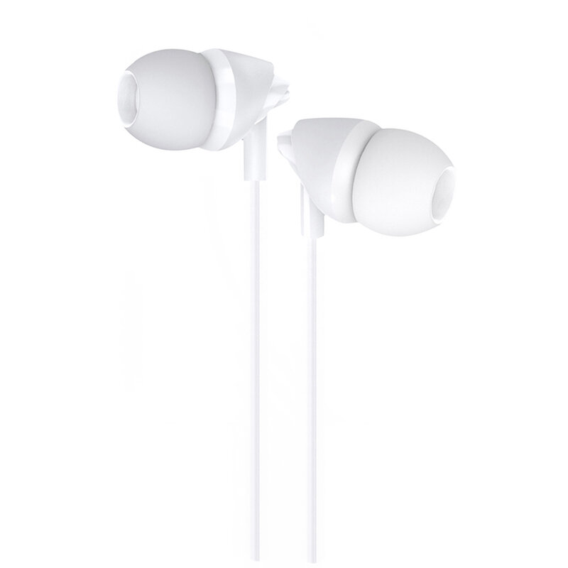 Casti In-Ear Cu Microfon USAMS EP-39 Plastic Earphone 1.2m - US-SJ387 - Alb