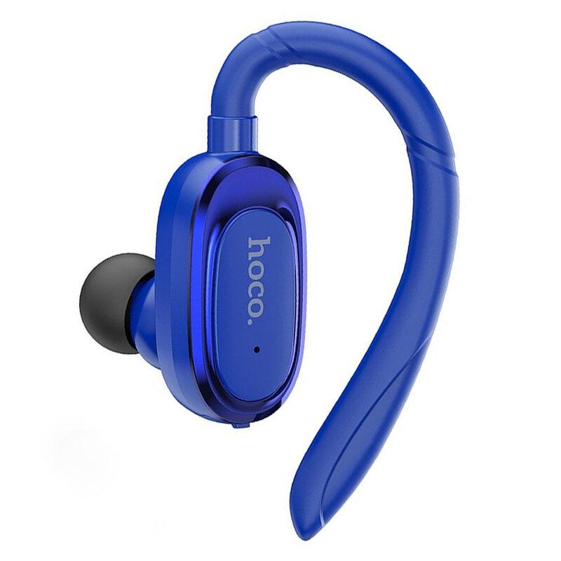 Casca Bluetooth Hoco E26Plus Business Wireless Headset Rotatable Regulation Left/Right BT V5.0 - Albastru