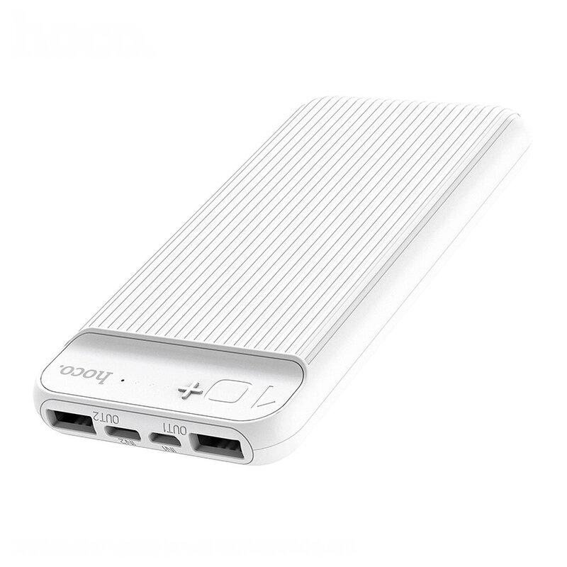 Baterie Externa Hoco J52 Intelligent Balance 10000mAh 2xUSB/Type-C/Micro-USB 2A - Alb