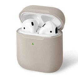 Husa Apple Airpods Uniq Lino Liquid Silicone Premium Soft Exterior Finishing - Bej