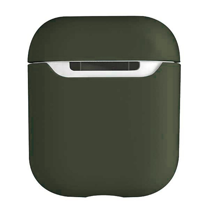 Husa Apple Airpods Uniq Lino Liquid Silicone Premium Soft Exterior Finishing - Verde