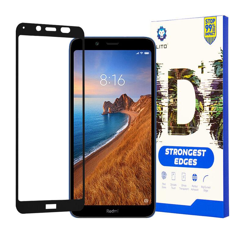 Folie Sticla Xiaomi Redmi 7A Lito Strongest Edges Cu Rama - Negru