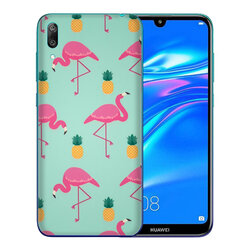 Skin Huawei Y7 Pro 2019 - Sticker Mobster Autoadeziv Pentru Spate - Flamingo