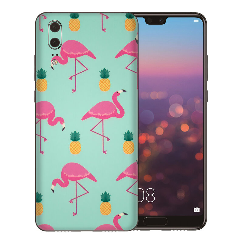 Skin Huawei P20 - Sticker Mobster Autoadeziv Pentru Spate - Flamingo